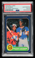 Tim Raines Signed 1986 Fleer #632 (PSA Encapsulated) at PristineAuction.com