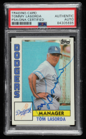 Tom Lasorda Signed 1984 Topps #681 MG (PSA Encapsulated) at PristineAuction.com