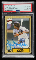 Tony Gwynn Signed 1987 Topps #530 (PSA Encapsulated) at PristineAuction.com