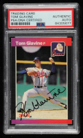 Tom Glavine Signed 1989 Donruss #381 (PSA Encapsulated) at PristineAuction.com