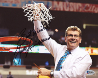 """Geno Auriemma Signed UConn Huskies 8x10 Photo Inscribed """"Best Wishes"""" (Beckett COA) at PristineAuction.com"""