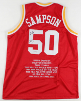 "Ralph Sampson Signed Career Highlight Stat Jersey Inscribed ""4x NBA-All Star"" (PSA COA) at PristineAuction.com"