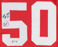 """Ralph Sampson Signed Career Highlight Stat Jersey Inscribed """"4x NBA-All Star 85"""" (PSA COA) at PristineAuction.com"""