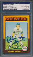 Robin Yount Signed 1975 Topps #223 RC (PSA Encapsulated) at PristineAuction.com