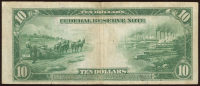 1914 $10 Ten-Dollar Blue Seal U.S. Large-Size Federal Reserve Note at PristineAuction.com