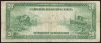1914 $20 Twenty Dollars U.S. Blue Seal Federal Reserve Bank Note at PristineAuction.com