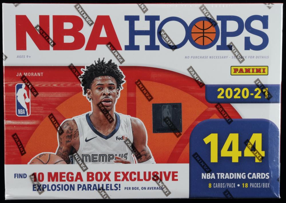 2020-21 NBA Hoops Premium Stock Basketball Mega Box with (18) Packs at PristineAuction.com