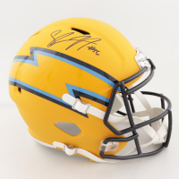 Shawne Merriman Signed Chargers AMP Alternate Full-Size Speed Helmet (Beckett COA) (See Description) at PristineAuction.com