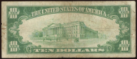 1928 $10 Ten Dollars Gold Seal Certificate Bank Note at PristineAuction.com