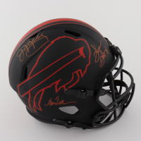 Jim Kelly, Thurman Thomas & Andre Reed Signed Bills Full-Size Eclipse Alternate Speed Helmet (Beckett COA) at PristineAuction.com