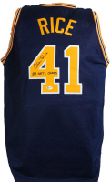 """Glen Rice Signed """"G Money"""" Jersey Inscribed """"89 NATL CHAMPS"""" (Beckett COA) at PristineAuction.com"""