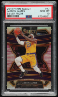 LeBron James 2019-20 Select Prizms Silver #47 (PSA 10) at PristineAuction.com