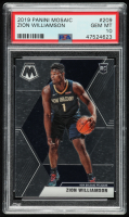 Zion Williamson 2019-20 Panini Mosaic #209 RC (PSA 10) at PristineAuction.com