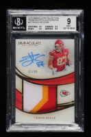 Travis Kelce 2019 Immaculate Collection Premium Patch Autographs #43 EXCH (BGS 9) at PristineAuction.com