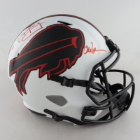Jim Kelly, Thurman Thomas, & Andre Reed Signed Bills Full-Size Lunar Eclipse Alternate Speed Helmet (Beckett COA) at PristineAuction.com