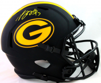 Davante Adams Signed Packers Full-Size Eclipse Alternate Speed Helmet (Beckett COA) at PristineAuction.com