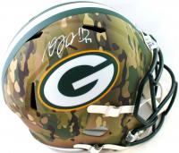 Davante Adams Signed Packers Full-Size Camo Alternate Speed Helmet (Beckett COA) at PristineAuction.com