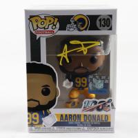 Aaron Donald Signed Rams #130 Funko Pop! Vinyl Figure (JSA COA) at PristineAuction.com