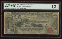 1896 $1 One Dollar U.S. Silver Certificate Red Seal Large Size Currency Bank Note (PMG 12) at PristineAuction.com