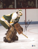 Gilles Meloche Signed North Stars 8x10 Photo (Beckett COA) at PristineAuction.com