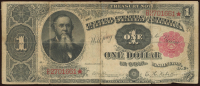 1891 $1 One-Dollar U.S. Treasury Star Note at PristineAuction.com
