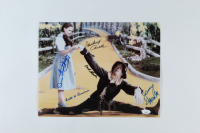 """""""The Wizard of Oz"""" 11x14 Photo Cast-Signed by (5) with Karl Slover, Mickey Carroll, Jerry Maren, Ruth Duccini, Donna Stewart-Hardway (JSA COA) at PristineAuction.com"""