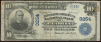 1902 $10 Ten-Dollar U.S. National Currency Large-Size Bank Note - The National Bank of Commerce in Peoria, Illinois at PristineAuction.com