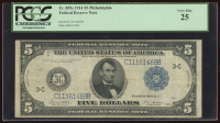 1914 $5 Five Dollars Federal Reserve Note (PCGS 25) at PristineAuction.com