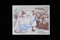 """The Wizard of Oz"" 11x14 Photo Cast-Signed by (6) with Mickey Carroll, Margaret Pellegrini, Karl Slover, Donna Stewart Hardaway (JSA COA) at PristineAuction.com"