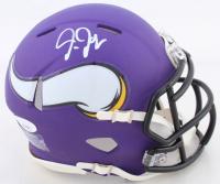 Justin Jefferson Signed Vikings Speed Mini Helmet (JSA COA) at PristineAuction.com