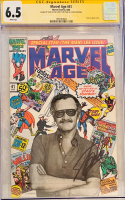 "Stan Lee Signed 1986 ""Marvel Age"" Issue #1 Marvel Comic Book (CGC Encapsulated - 6.5) at PristineAuction.com"