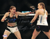 "Katlyn Chookagian Signed UFC 8x10 Photo Inscribed ""You Reach I Teach"" (PSA COA) at PristineAuction.com"