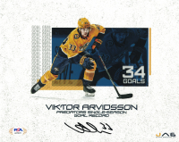 Viktor Arvidsson Signed Predators 8x10 Photo (PSA COA) at PristineAuction.com