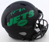 Keyshawn Johnson Signed Jets Full-Size Eclipse Alternate Speed Helmet (Beckett COA) at PristineAuction.com