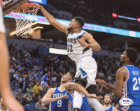 Karl-Anthony Towns Signed Timberwolves 8x10 Photo (PSA COA) at PristineAuction.com