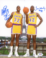 James Worthy & Magic Johnson Signed Lakers 8x10 Photo (PSA COA) at PristineAuction.com