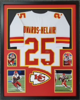 Clyde Edwards-Helaire Signed 34x42 Custom Framed Jersey Display (JSA COA) at PristineAuction.com