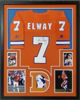 John Elway Signed 34x42 Custom Framed Jersey Display (JSA LOA) at PristineAuction.com