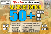 "Sportscards.com ""ALL SPORTS MYSTERY BOX"" 50 + CARDS PER BOX ! – SERIES 1 at PristineAuction.com"