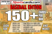 "Sportscards.com "" BASEBALL MYSTERY BOX"" 150 + CARDS PER BOX ! – SERIES 1 at PristineAuction.com"