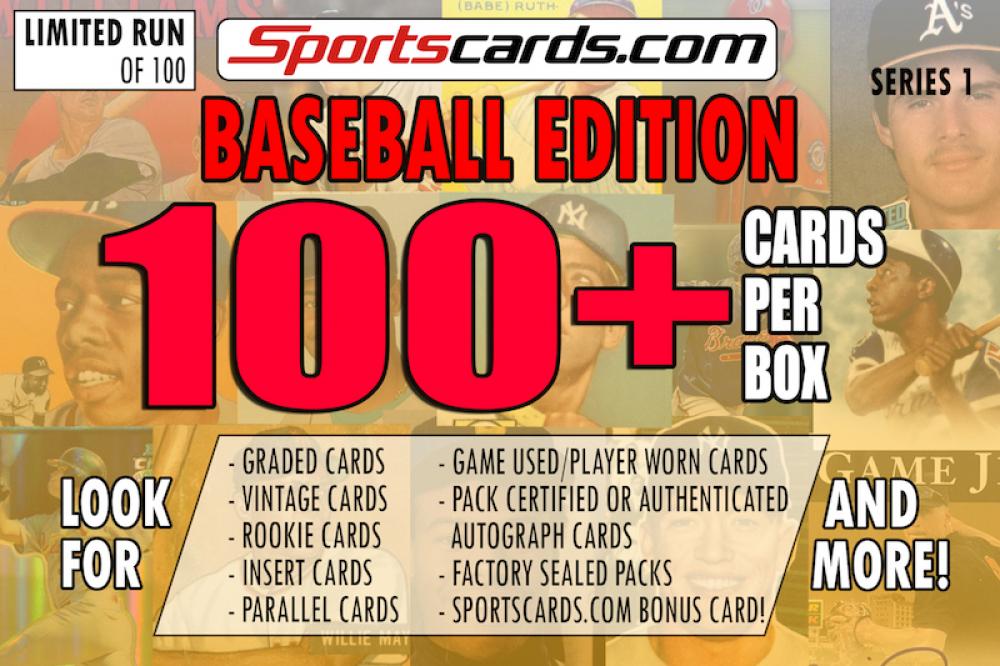 """BASEBALL MYSTERY BOX"" 100 + CARDS PER BOX ! – SERIES 1 at PristineAuction.com"