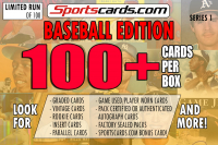 "Sportscards.com "" BASEBALL MYSTERY BOX"" 100 + CARDS PER BOX ! – SERIES 1 at PristineAuction.com"