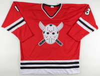"""Ari Lehman Signed Jersey Inscribed """"F*** Chucky!"""" (Lehman Hologram) at PristineAuction.com"""