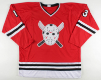 """Ari Lehman Signed Jersey Inscribed """"They Were Warned"""" (Lehman Hologram) at PristineAuction.com"""