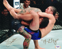 "Brian Ortega Signed 8x10 Photo Inscribed ""T-City"" (PSA COA) at PristineAuction.com"