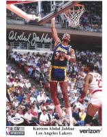 Kareem Abdul-Jabbar Signed Lakers 8x10 Photo (PSA COA) at PristineAuction.com