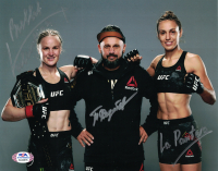 "Pavel Fedotov, Valentina Shevchenko, & Antonina Schevchenko Signed UFC 8x10 Photo Inscribed ""Bullet"" & ""La Pantera"" (PSA COA) at PristineAuction.com"