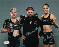 "Pavel Fedotov, Valentina Shevchenko, & Antonina Schevchenko Signed UFC 8x10 Photo Inscribed ""Bullet"" & ""La Pantera"" (PSA COA) at PristineAuction.com"