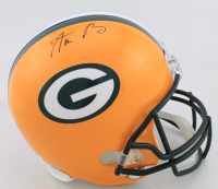 Aaron Rodgers Signed Packers Full-Size Helmet (Steiner Hologram & Fanatics Hologram) at PristineAuction.com