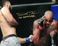 "Dominick Reyes Signed UFC 8x10 Photo Inscribed ""The Devastator"" (PSA COA) at PristineAuction.com"